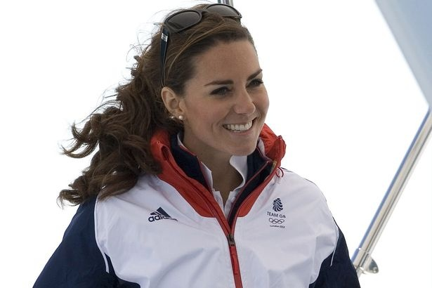 Wey to go: Kate on a boat watching the sailing in Weymouth - Olympics 2012!!
