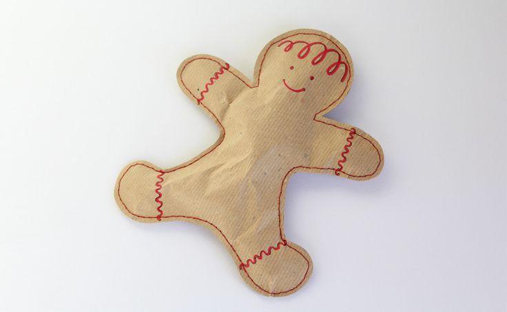 Embalagem gingerbread man  ideal para colocar docinhos  fitacola.pt