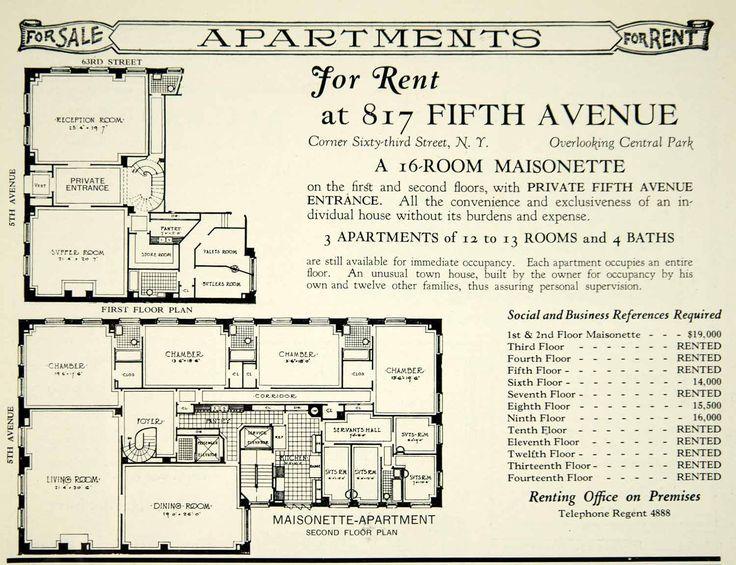 817 Fifth Avenue 39 Maisonette 39 V A Reece Bivens
