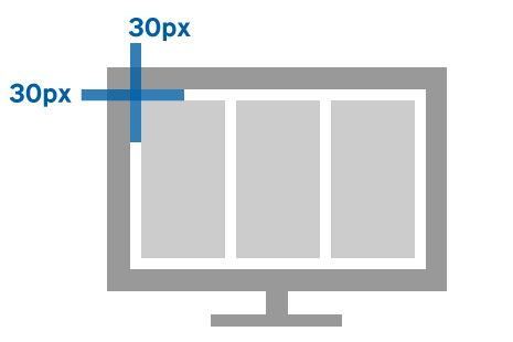 30px gutter example
