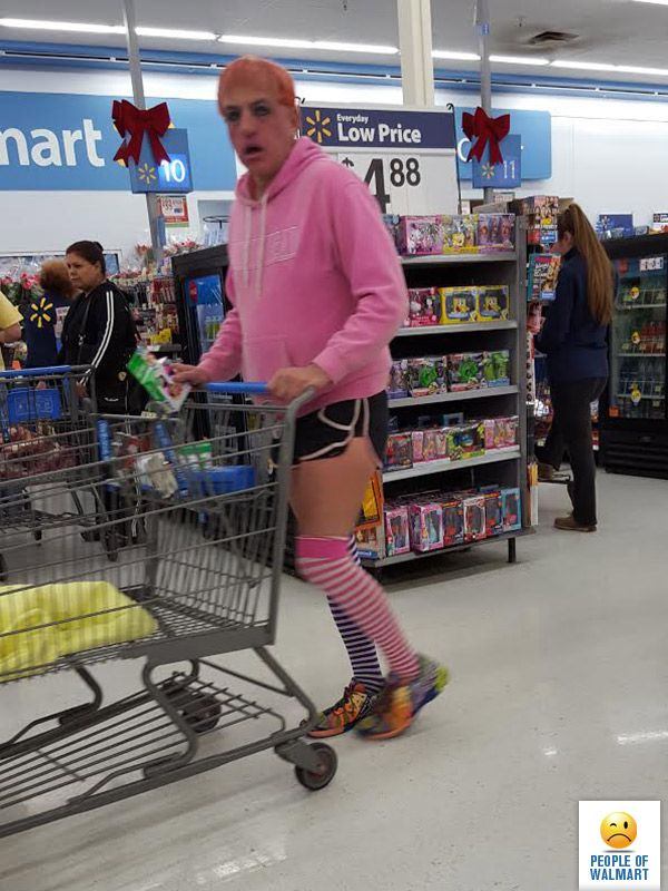 Funny Pictures of People Shopping at Walmart