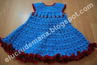 eLucru de mana: rochita albastra crosetata