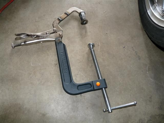 Vise clamp. Great idea
