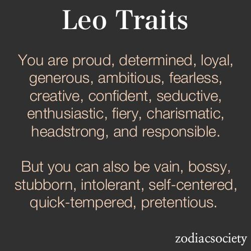 Leo traits...sounds pretty accurate!