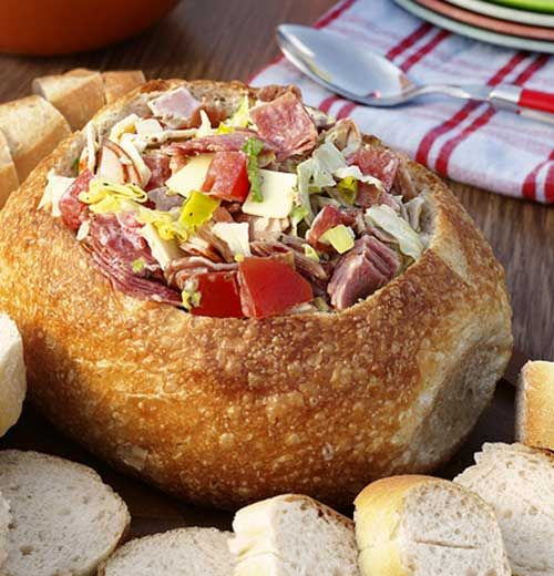 Recipe for Hoagie Dip - This is absolutely delicious! You can use any deli meat you like. It was a HUGE hit at the party.