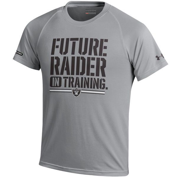 Oakland Raiders Under Armour Youth NFL Combine Authentic Future Tech Performance T-Shirt - Gray - $27.99