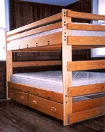 queen/queen, queen over queen, bunk beds, solid wood bunk beds, custom bunk beds, custom made bunk beds, Kansas, Way Out Wood, Bunk Bed Solutions, furniture, solid wood furniture, custom made furniture, gun stocks, solid wood gun stocks, children's furniture, bedroom furniture, solid wood desks, desks, solid wood dressers, dressers, solid wood toy boxes, toy boxes