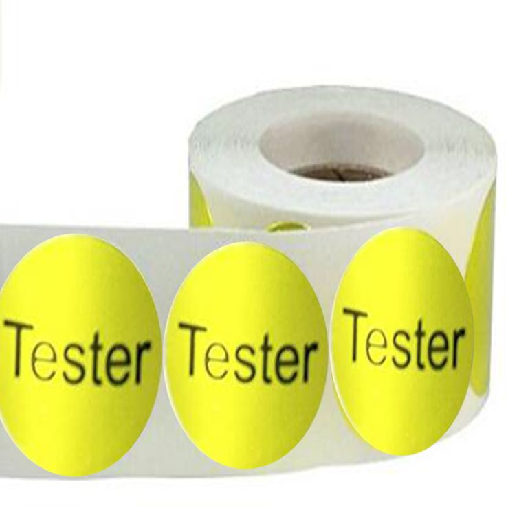 "Round Metallic Gold Color Coding Dot Labels with"" tester ""self-adhesive and removable packaging label promotional sticker #Affiliate"