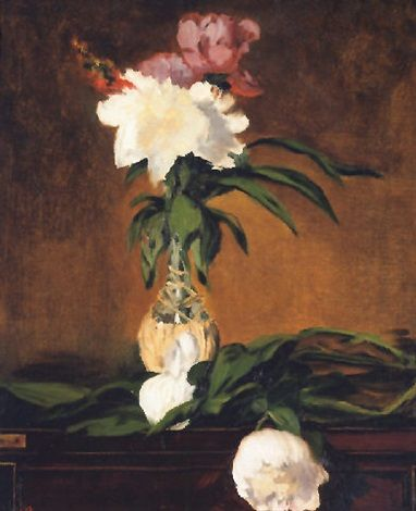 Peonies in a bottle by Édouard Manet