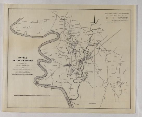 1862 Map Concerning The Battle Of Antietam Collection Of The Historical Society Of Pennsylvania