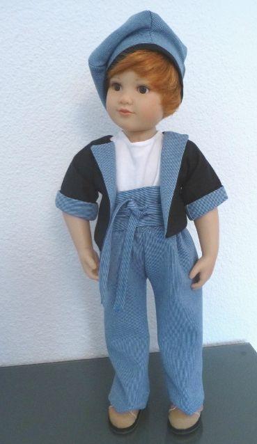 CATWALK : ensemble veste, pantalon, ceinture, béret PATTERNS here // PATRONS ici : www.dollfamily.fait-maison.com