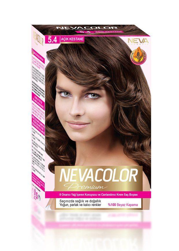 Nevacolor Premium Sac Boyasi 5 4 Acik Kestane Sac Boyasi Sac
