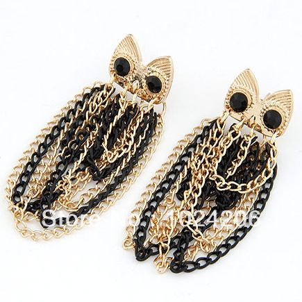 Find More Drop Earrings Information about Valentine's Gift Girls Free girls Shipping Vintage Jewelry Drilling Dangling Owl Earring earings fashion 2013 free shipping,High Quality Drop Earrings from XJD Store on Aliexpress.com