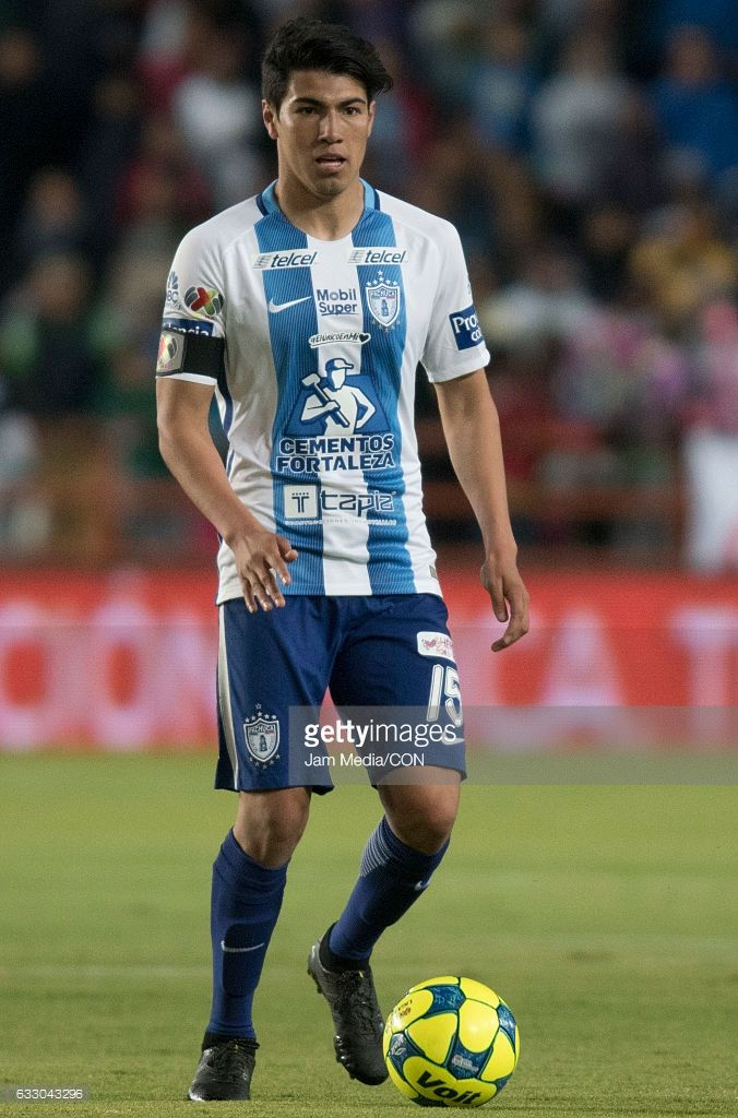 Erick Gutierrez of Pachuca drives the ball during a match between Pachuca and Toluca the Clausura Tournament 2017 league Bancomer MX at Hidalgo Stadium on January 28, 2017 in Pachuca, Mexico.