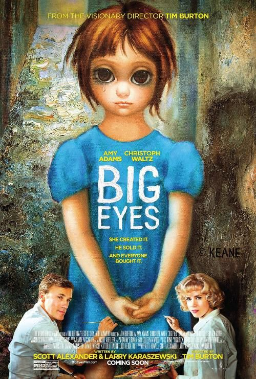 The poster for Tim Burton's upcoming movie, 'Big Eyes'.