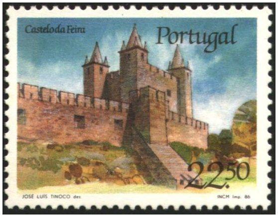 Selos - Afinsa nr 1750 - Scott nr 1664. - Castelo da Feira , Santa Maria da…