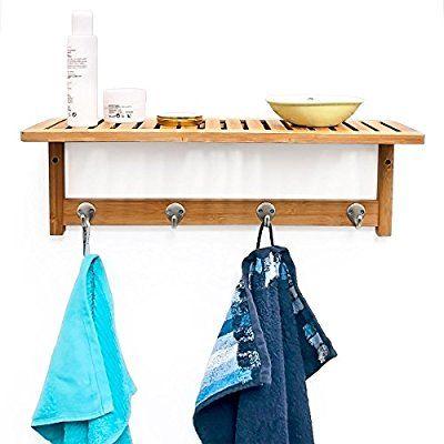 Die besten 25+ Handtuchhalter für bad Ideen auf Pinterest - wandregal badezimmer holz