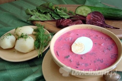 litewski: cold yoghurt-and-beetroot soup served with a hard boiled egg ...