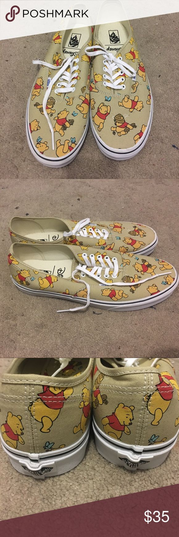 3/$45 VANS Winnie Pooh sneakers Mens 13 Purchased from vans store for my bf but they didnt fit him his loss yall gain super cute winnie the pooh design never worn BRAND NEW without box  MENS size 13 Vans Shoes Sneakers