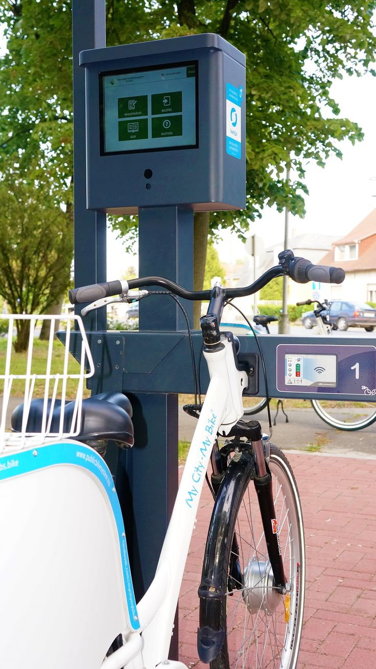 Intelligent touch screen with wich you can rent bikes faste and simple