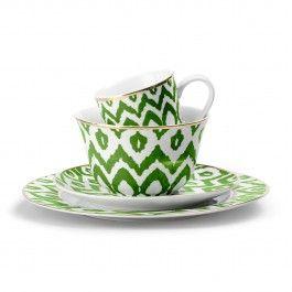 I love this C. Wonder Green Ikat Dinnerware