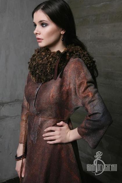 Платья ручной работы. Валяное платье «Darkness». Irina Demchenko. Интернет-магазин Ярмарка Мастеров. Валяное платье, женственность