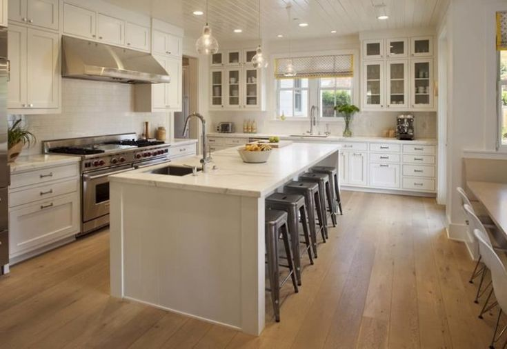 Country Farmhouse Kitchen Ideas Stainless Steel Two Tier Fruit B Brown Varnish Wood Kitchen Cabinet Grey Glossy Marble Flooring Stained Aluminium Horizontal Blind Kitchen Faucet Design Ideas