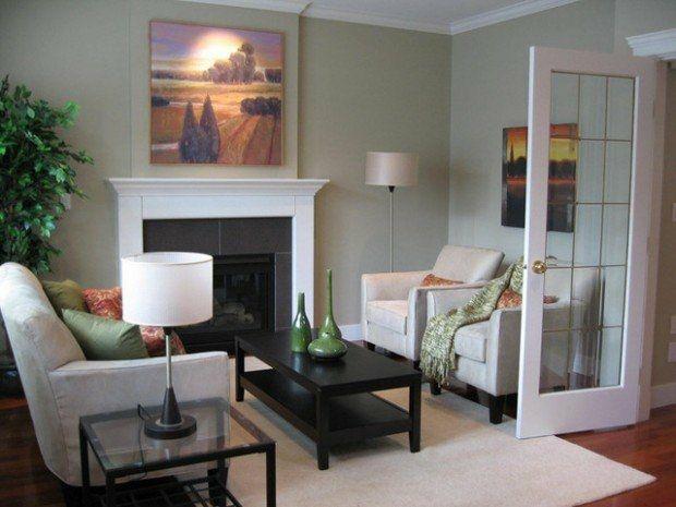 salon petit espace avec cheminée