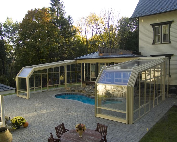 25 best ideas about pool enclosures on pinterest - Retractable swimming pool enclosures ...