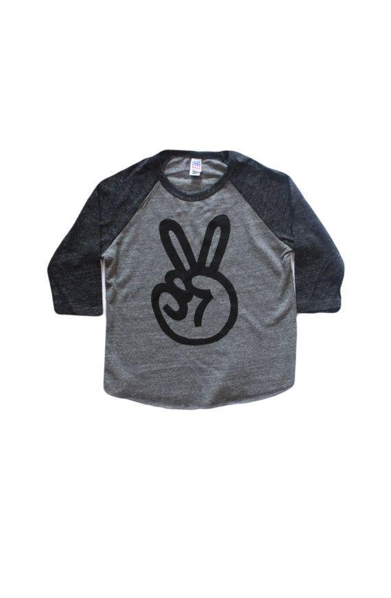 peace sign baseball shirt two shirt 2nd by BeautifulMelodyShop