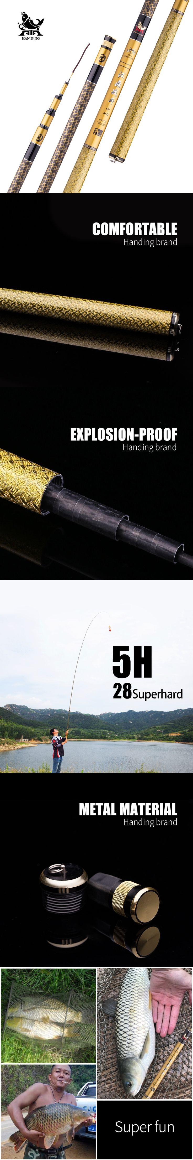 Handing 5H high carbon fiber telescopic fishing rod Ultra Light Carp Fishing rod Surf Spinning Rod stream/sea pesca fishing rod