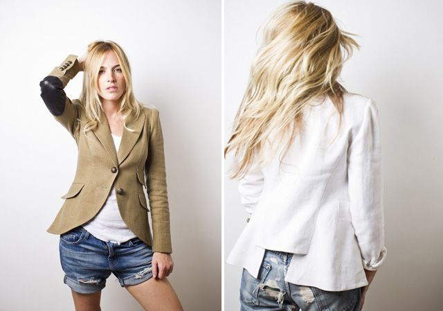 Smythe Blazers. Refashioned from larger men's blazers. Love the blazer paired with uber casual items.