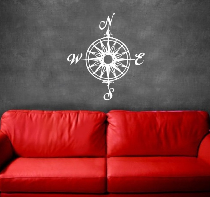Compass Rose Nautical Vinyl Wall Decal - Perfect for Wyatt's Ceiling