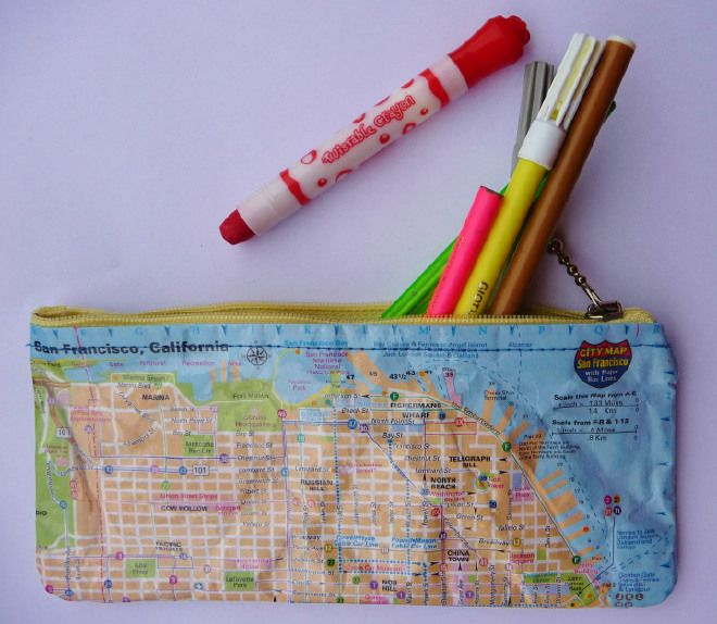 Pencilcase / San Francisco city map