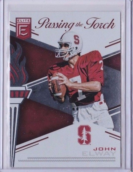 2017 Panini Elite Passing the Torch Standford John Elway Andrew Luck Card No. 18 #Standford