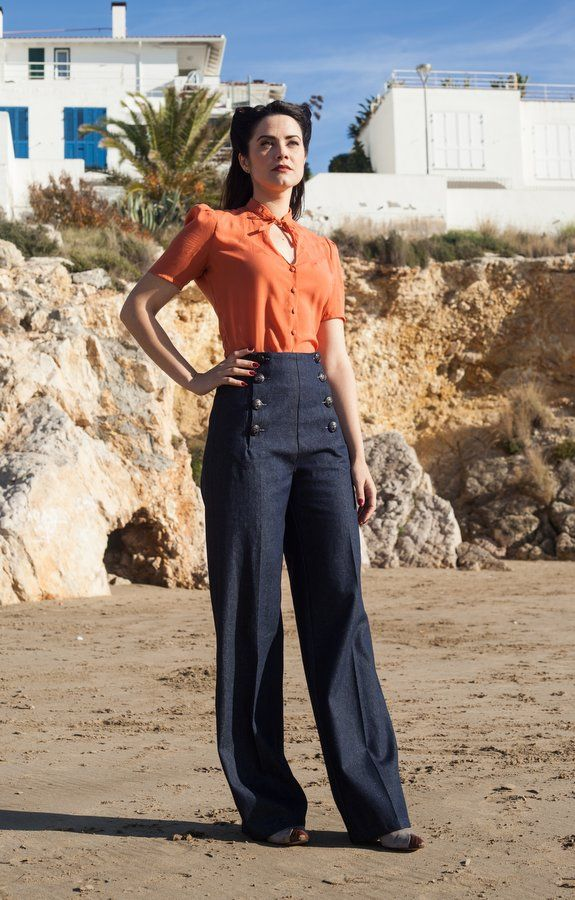 1000 Images About 1940s Fashion On Pinterest: 37 Best 40s Women's Pants Images On Pinterest