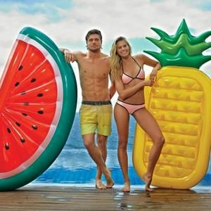 JULI ananas Bouée Gonflable Bali Island Holiday à coussin d'air flottant eau radeaux KZ161-1 - Achat / Vente jeux de piscine - Cdiscount