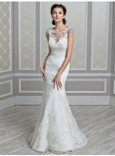 Lace Sheath-Column Wedding Dress
