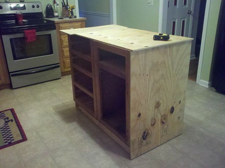 old base cabinets repurposed to kitchen island. Black Bedroom Furniture Sets. Home Design Ideas