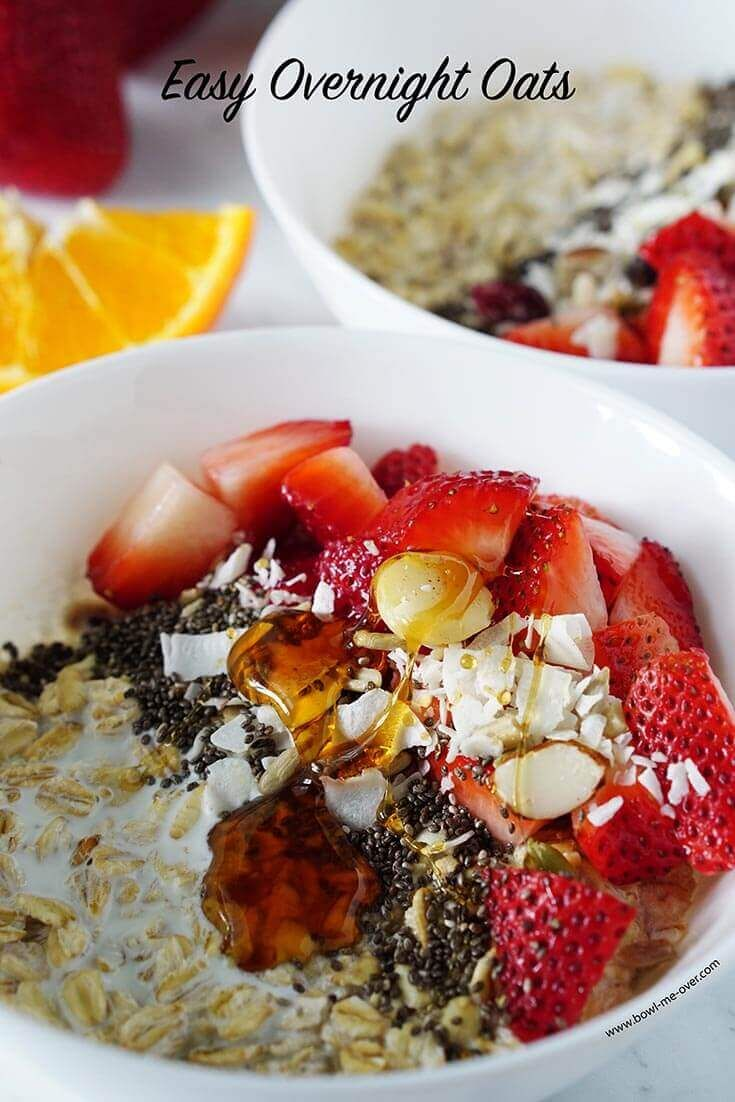 Want an easy breakfast the whole family will enjoy? Definitely consider easy overnight oats - super simple, incredibly delicious and so good for you too!