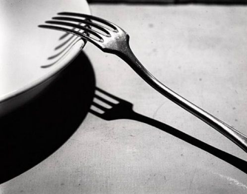 The time of business does not with me differ from the time of prayer, and in the noise and clatter of my kitchen, while several persons are at the same time calling for different things, I possess God in as great tranquility as if I were upon my knees at the blessed sacrament. ―Brother Lawrence Photograph: André Kertész, Fork, 1928 (via Crashingly Beautiful)