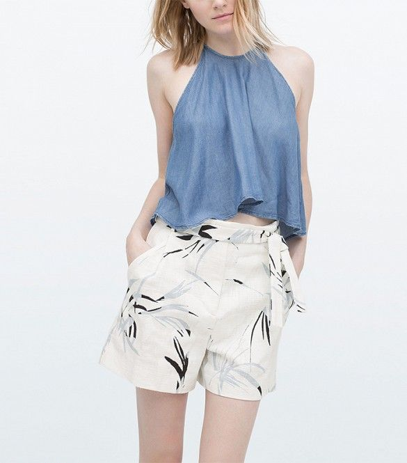 Zara Bermuda Shorts http://www.zara.com/us/en/woman/shorts/printed-bermuda-shorts-with-pleats-c404505p2709502.html