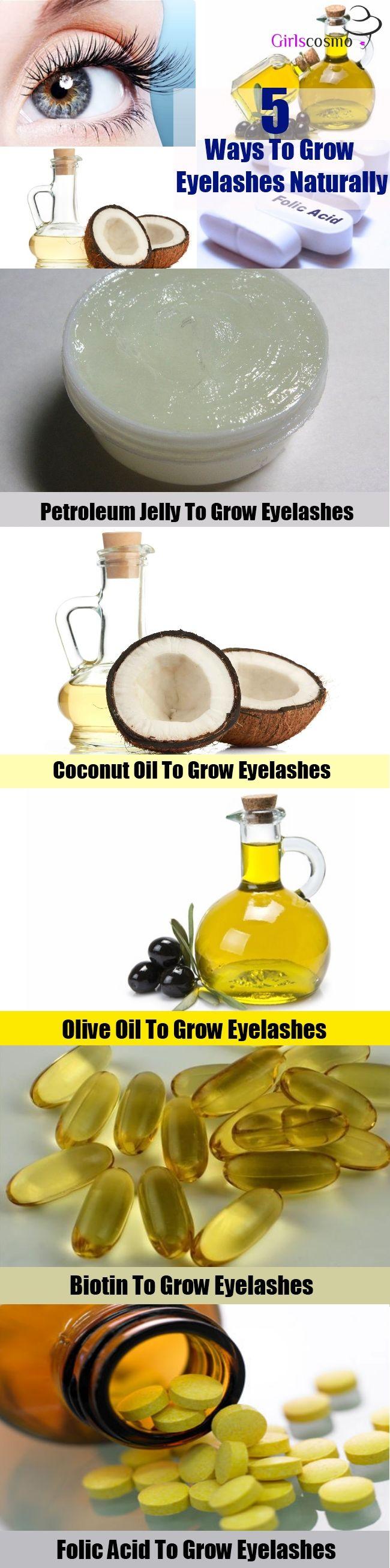 5 Ways To Grow Eyelashes Naturally