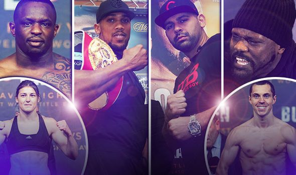 Anthony Joshua v Eric Molina LIVE: All the undercard action including Whyte v Chisora