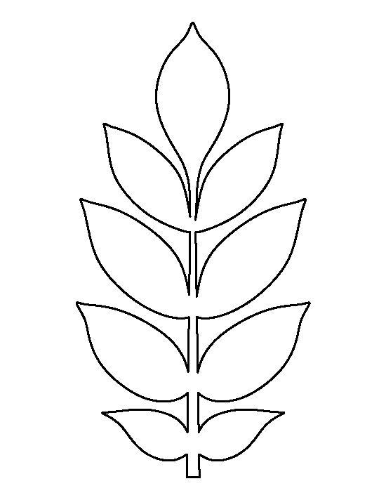 paper flower leaf template