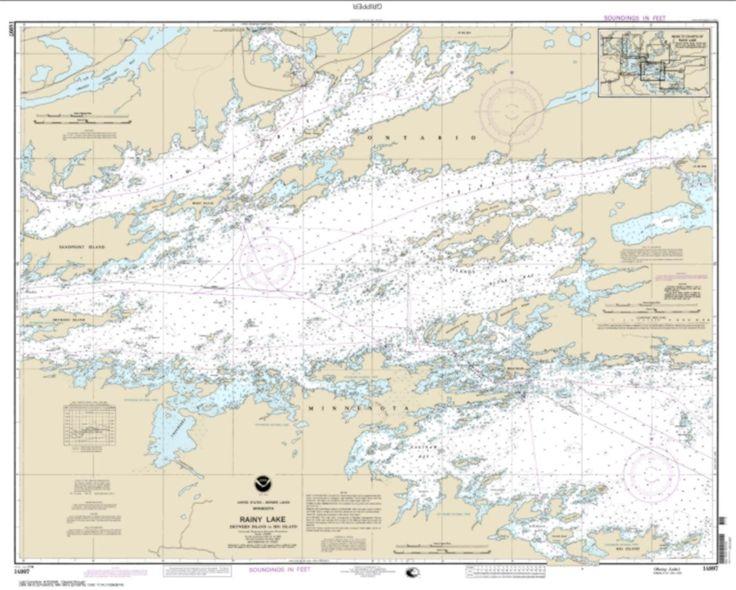 Rainy Lake-Dryweed Island, to Big Island (14997-15) by NOAA