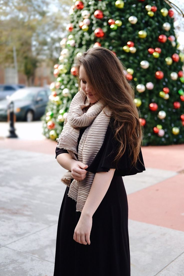 The Perfect Flare-Sleeve Black Dress