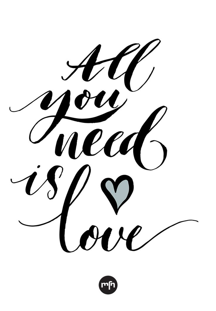 Inspiration to Follow Your Heart - Love is all you need. #quote #inspiration