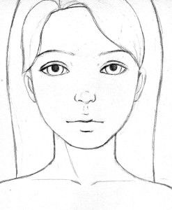 Child Face Outline Learn How To Draw Faces With Let S Draw