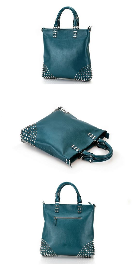 Leather Bag | Leather Tote Bag | Womens Leather Bag with rivets | Handbag for ladies | Leather bag woman | Bag with rivets | Handmade bag